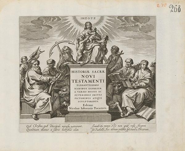 Claes Jansz. Visscher, Maarten de Vos st. - Titulný list Historiae Sacre Novi Testamenti