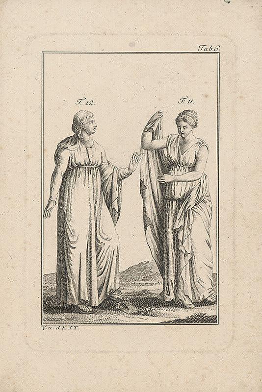 Západoeurópsky autor z 18. storočia – Antické ženské figúry