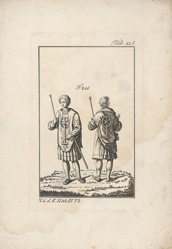 Západoeurópsky autor z 18. storočia – Dvojica mladíkov s kolesom na ornáte