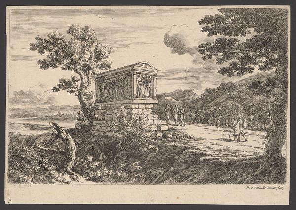 Herman van Swanevelt - Krajina s pamätníkom