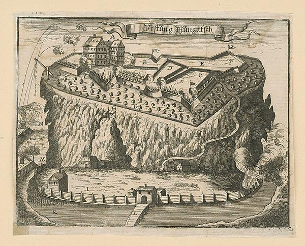 Nicolas de Fer – Pevnosť Mukačevo