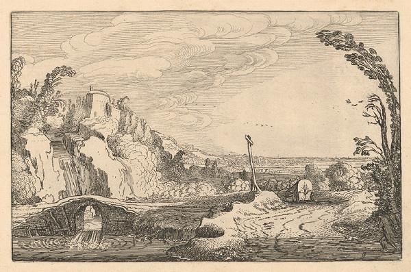Jan van de Velde ml. - Vodopád pod kamenným mostom (9)