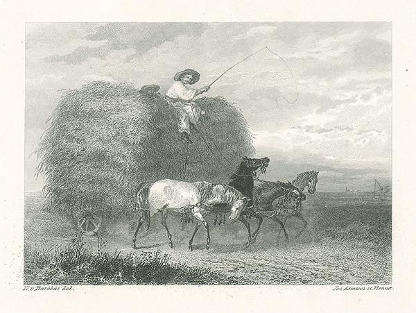 Miklós Barabás, Josef Axmann – Zvážanie obilia