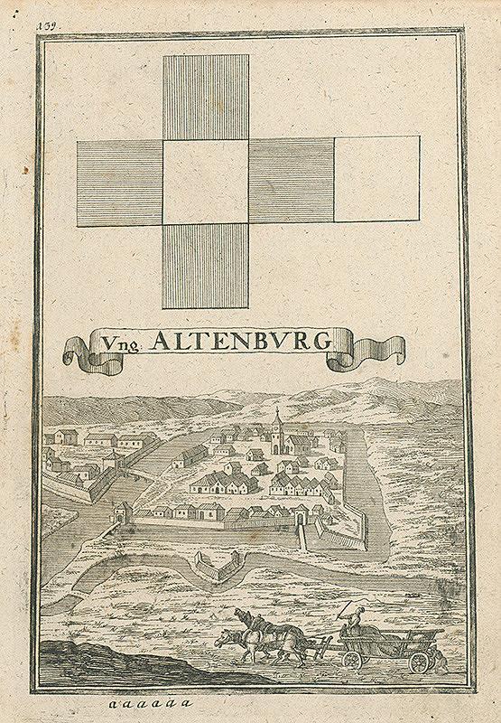Gabriel Bodenehr st. – Altenburg- Z cyklu mestských pohľadníc a plánov