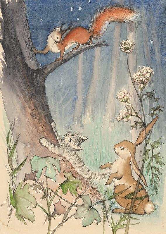 Mária Želibská - Kocúrik sa šplhá na strom