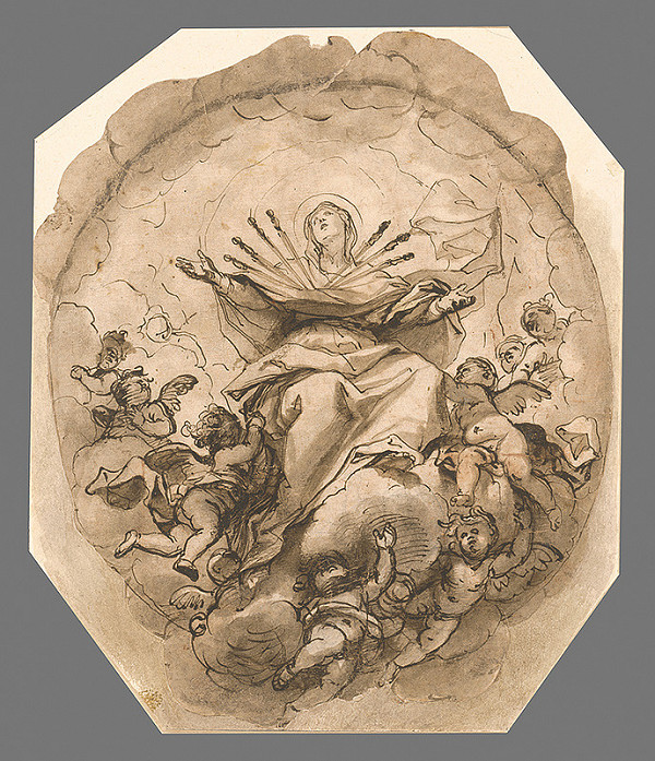 Taliansky majster zo 17. storočia - Panna Mária sedembolestná