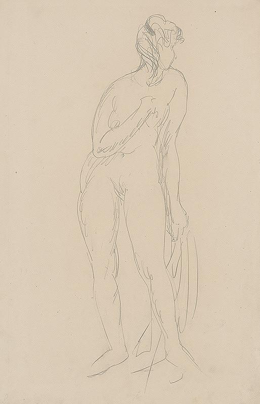 Jozef Kostka - Study of Female Nude