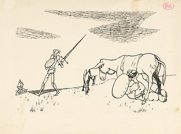Vincent Hložník – Don Quichote Preparing for a Fight