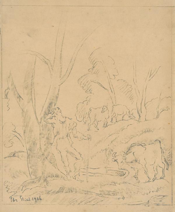 Bertalan Pór – Pastier so stádom