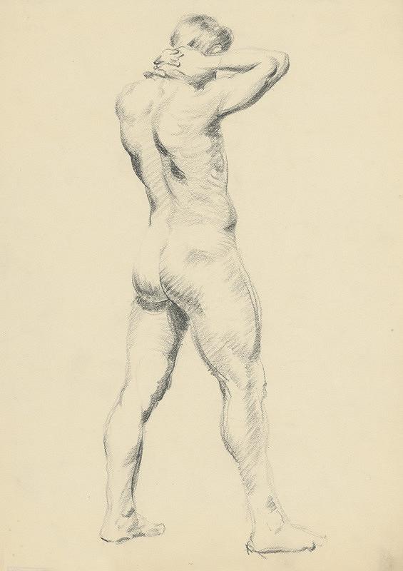 Štefan Polkoráb – Study of Standing Male Nude