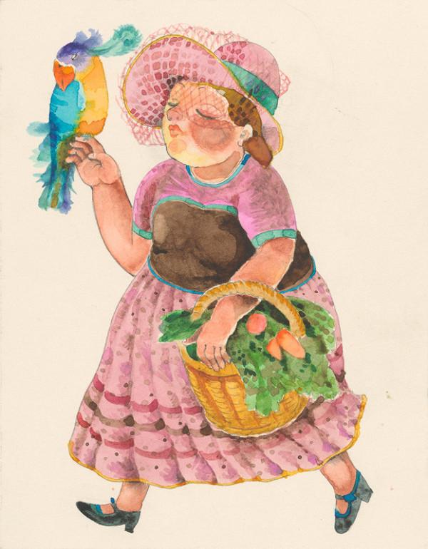 Alžbeta Štefunková-Szabová – Dáma s papagájom