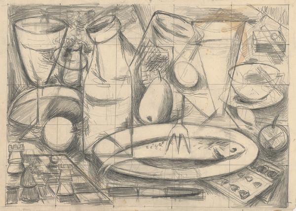 František Studený – Kubistické zátišie s kartami