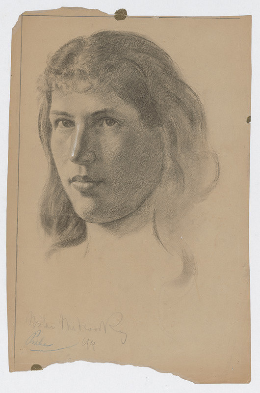 Milan Thomka Mitrovský – Study of Female Head