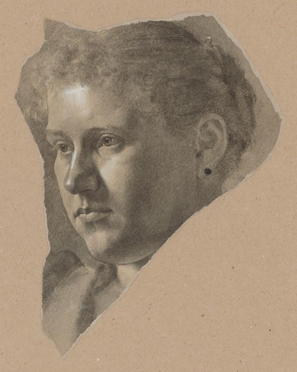 Milan Thomka Mitrovský – Portrait Study of Female Head 2.