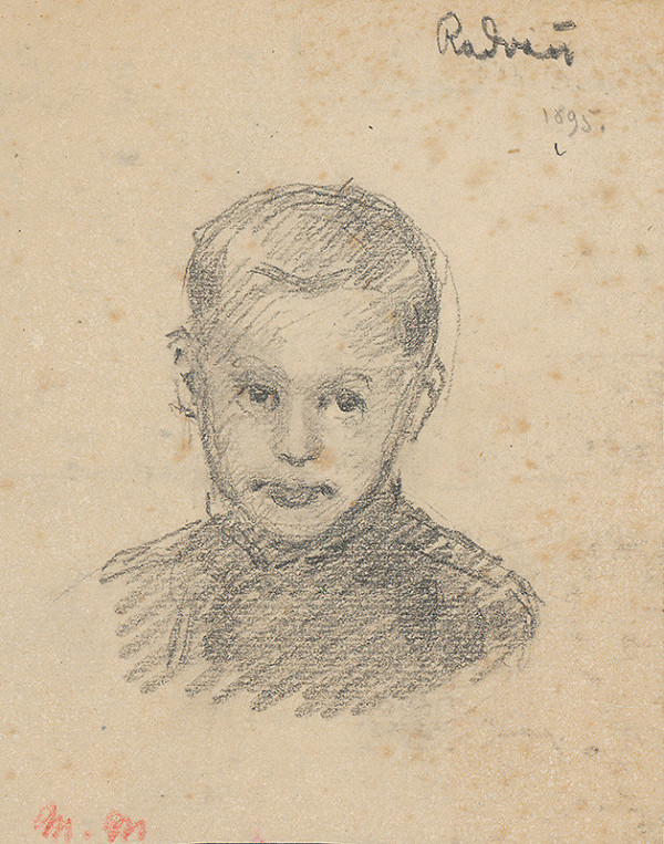 Milan Thomka Mitrovský – Head Study of a Radvaň Boy