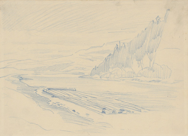 Ferdinand Katona - Raft on a River