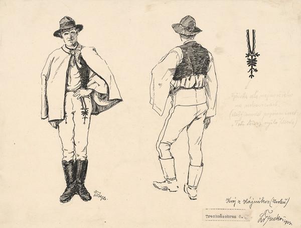 Ladislav Treskoň – Study of a Folk Costume from Hájnikov