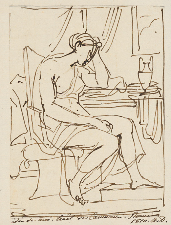 Vincenzo Camuccini – Seated Woman with her Head Resting on her Hand