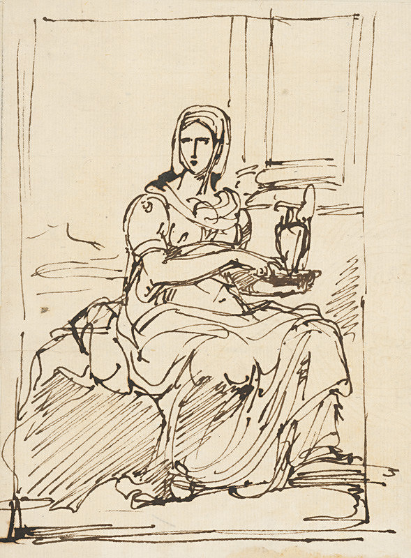 Vincenzo Camuccini – Seated Woman Holding a Jug in her Hands