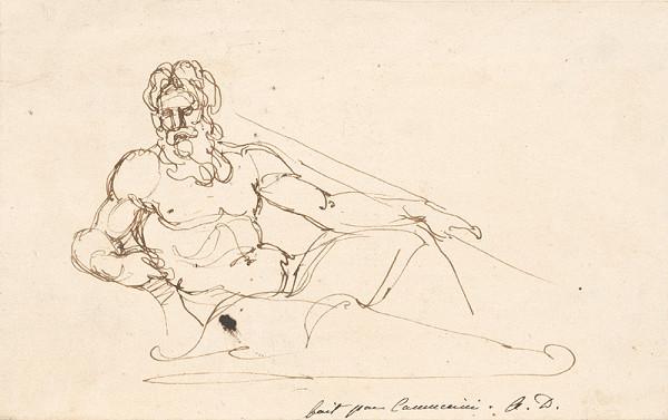 Vincenzo Camuccini – Seated Male Nude