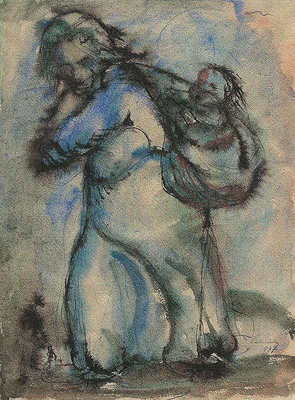 Ladislav Čemický – Mother with a Child on her Back