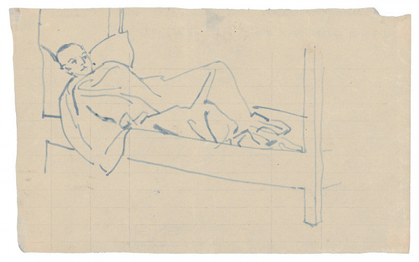 Jozef Fedora – On a Bunk in a Concentration Camp