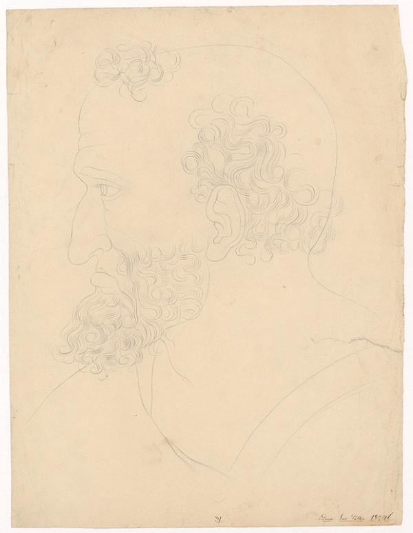 Ján Pálka – Man's Head in Profile