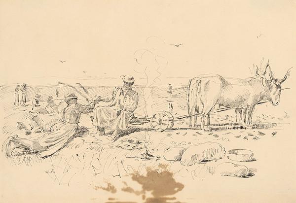 Ladislav Mednyánszky - Refreshment during Ploughing