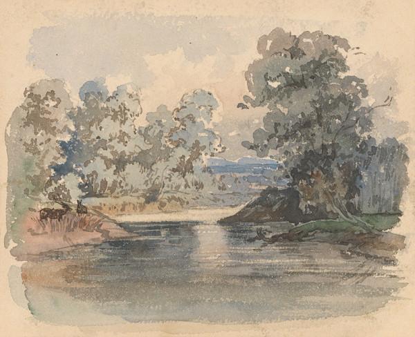Friedrich Carl von Scheidlin – Trees by the River
