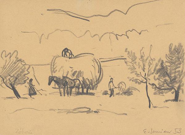 Ervín Semian – Hay Harvest in Devičie