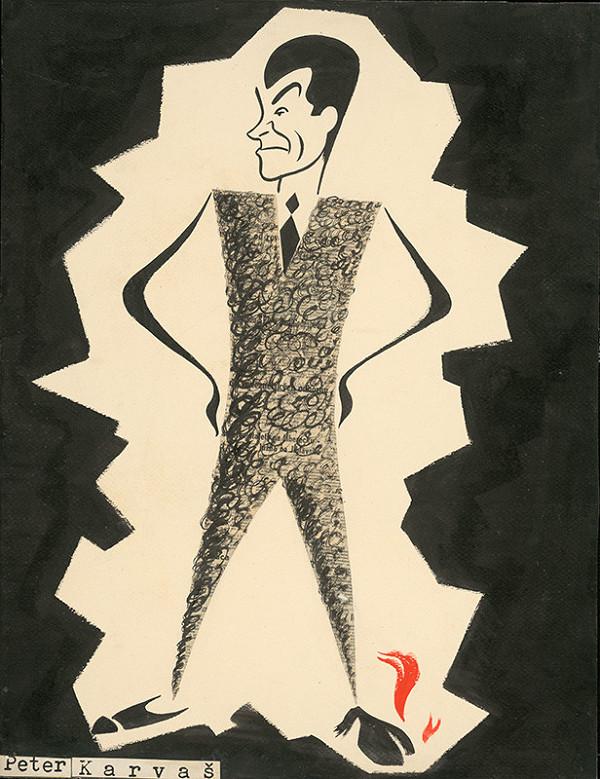 Alexander Richter – Caricature of Peter Karvaš