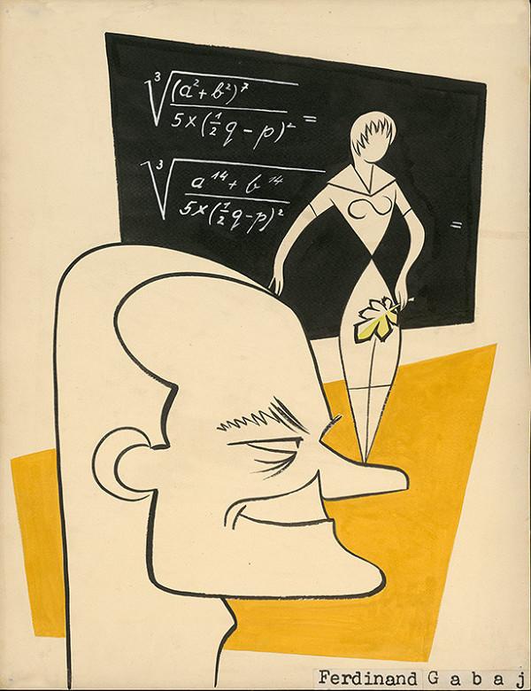 Alexander Richter – Caricature of Ferdinand Gabaj