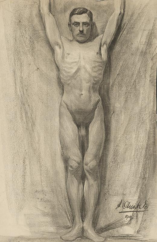 Emil Alexay-Olexák – Study of Male Nude