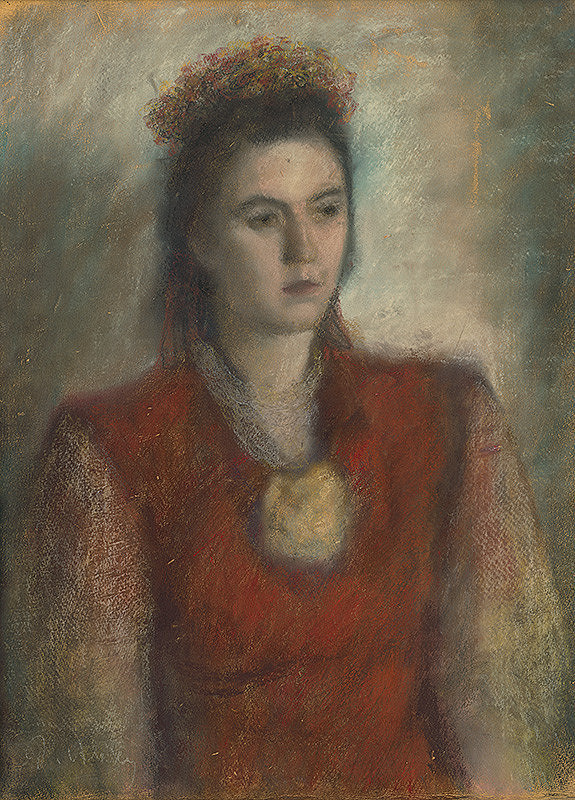 Janko Alexy – Girl in a Red Blouse