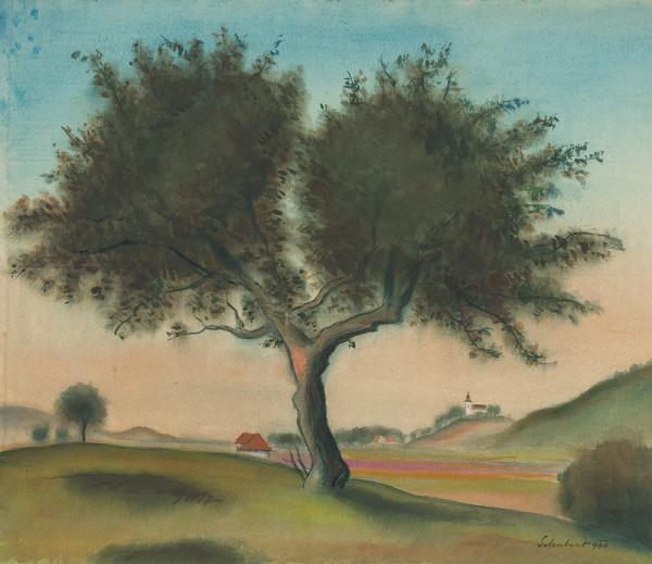Július Schubert - Landscape with a Tree (From Lamač)
