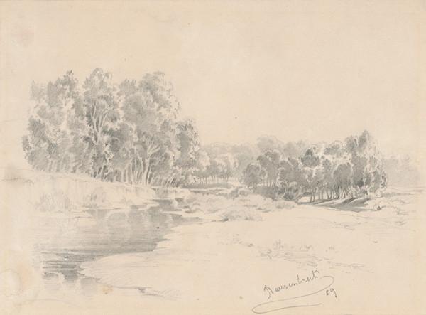 Friedrich Carl von Scheidlin – Trees by the Water