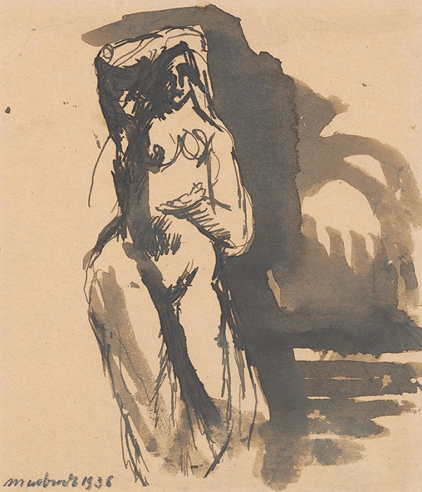 Ján Mudroch - Study of Female Nude