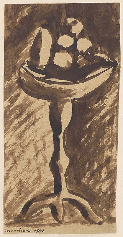 Ján Mudroch - Study of a Platter with Fruit