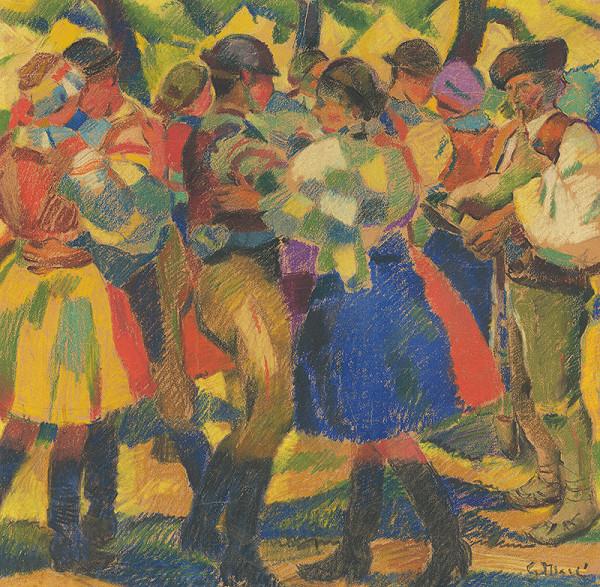 Gustáv Mallý – Study for the Painting Wedding I.