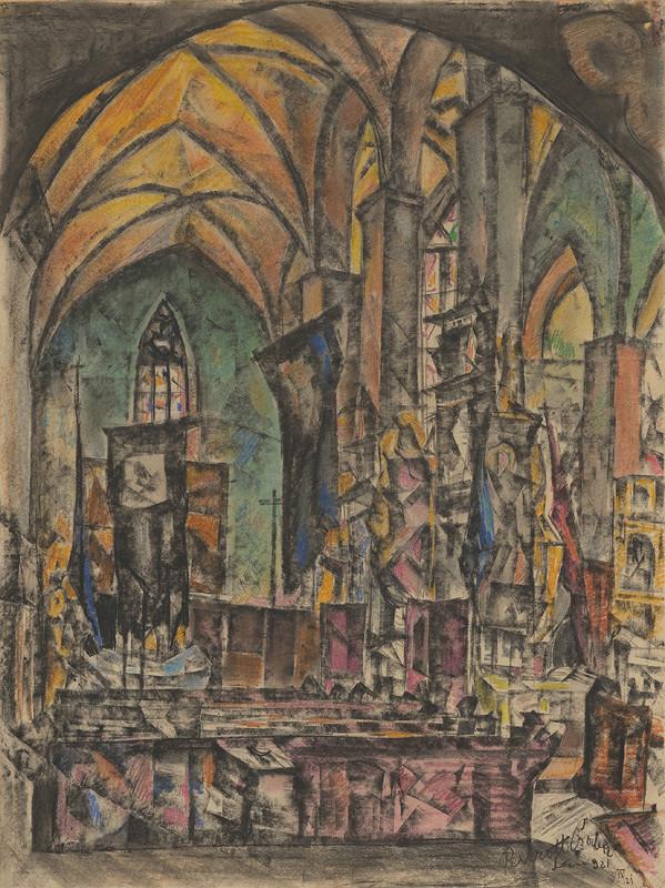 Vilmos Perlrott-Csaba - Interiér Levočského kostola
