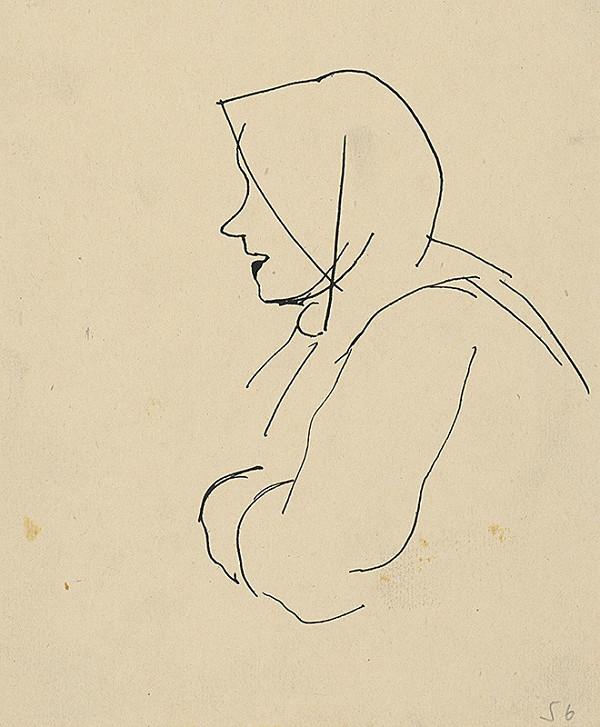 Vladimír Kompánek – Profile of an Old Woman