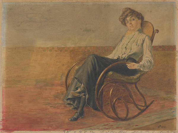 Anton Pinkava – Woman in a Rocking Chair