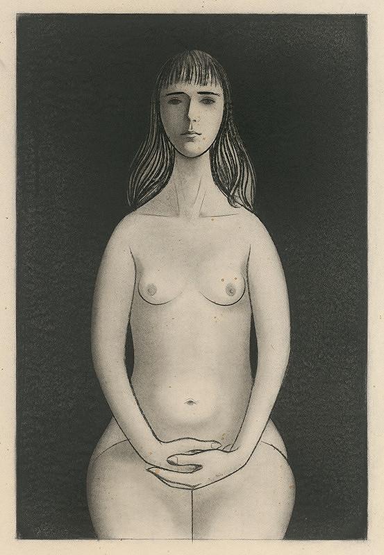 Ladislav Guderna – Seated Female Nude