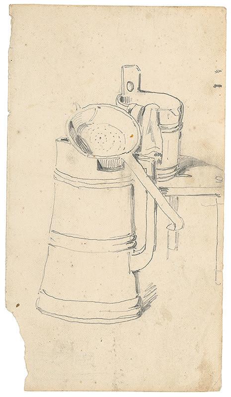 Friedrich Carl von Scheidlin – Study of a Churn with a Ladle and Milking Pail
