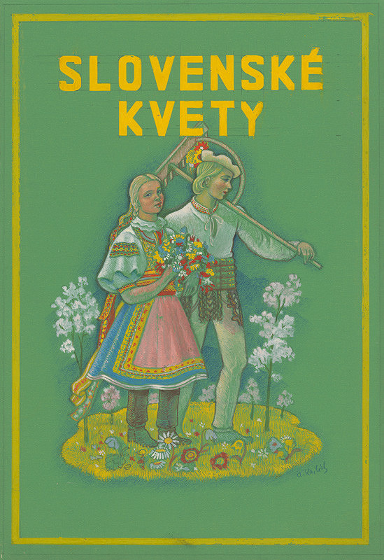 Aurel Kajlich – Slovak Flowers - Book Cover Design