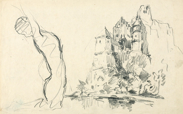 Zolo Palugyay – Study of a Castle Ruin