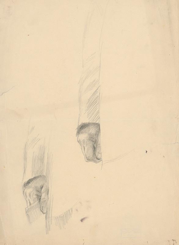Gustáv Mallý – Hands Study