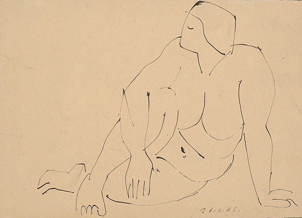Ernest Zmeták - Study of Female Nude