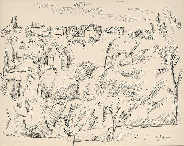 Ernest Zmeták – View of Červený Kríž