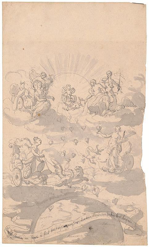 Francúzsky maliar z 18. storočia – Alegorická scéna